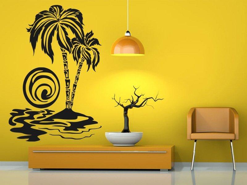 Samolepky na zeď Palmy 003 - Samolepící dekorace a nálepka na stěnu