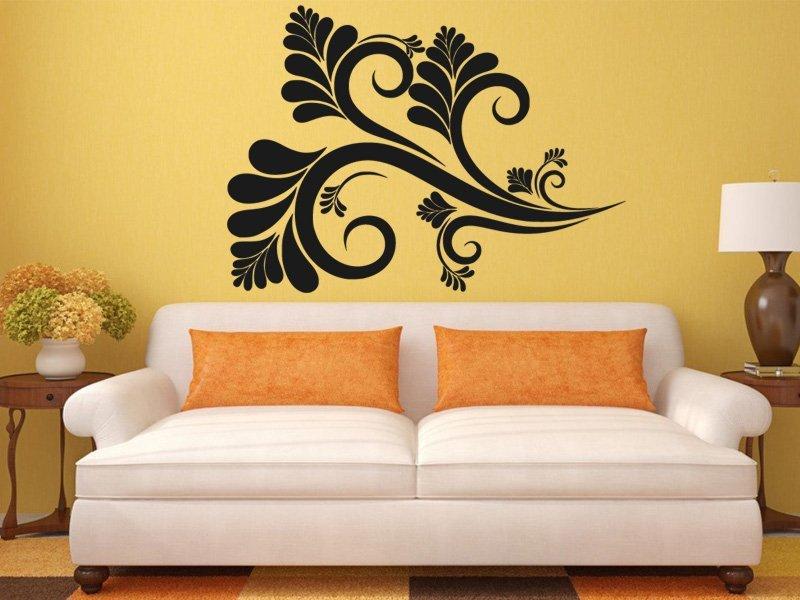 Samolepky na zeď Ornamenty z rostlin 032 - Samolepící dekorace a nálepka na stěnu