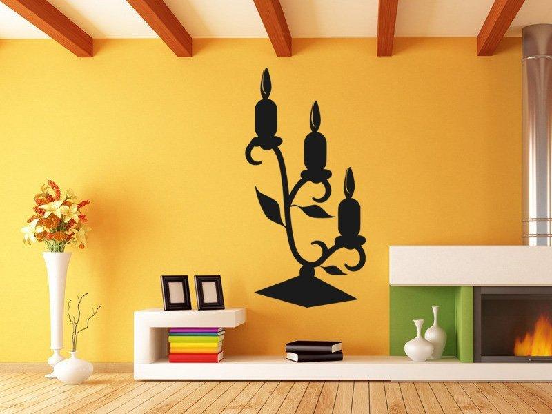 Samolepky na zeď Svícen 0027 - Samolepící dekorace a nálepka na stěnu
