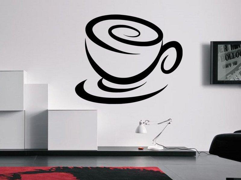 Samolepky na zeď Hrnek kávy 0052 - Samolepící dekorace a nálepka na stěnu