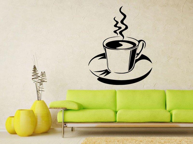 Samolepky na zeď Hrnek kávy 0057 - Samolepící dekorace a nálepka na stěnu