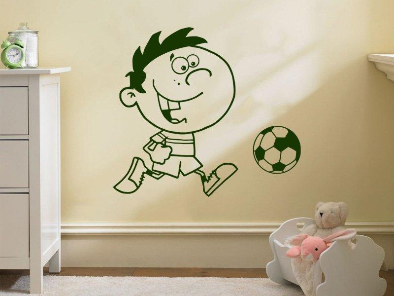 Samolepky na zeď Fotbalista 017 - Samolepící dekorace a nálepka na stěnu