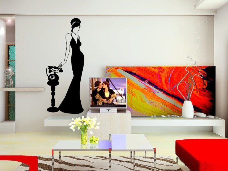 Samolepky na zeď Žena 045 - Samolepící dekorace a nálepka na stěnu