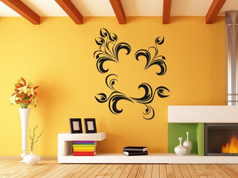 Samolepky na zeď Ornamenty z rostlin 013 - Samolepící dekorace a nálepka na stěnu