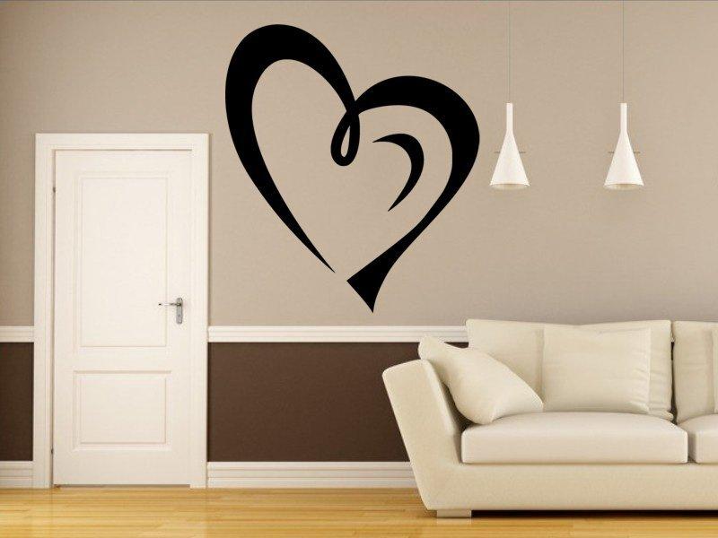 Samolepky na zeď Srdce 0252 - Samolepící dekorace a nálepka na stěnu