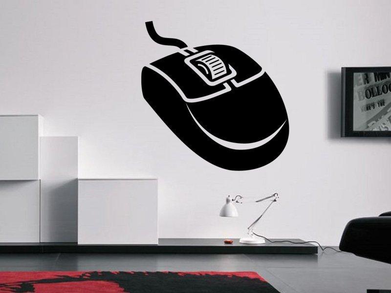 Samolepky na zeď PC myš 0292 - Samolepící dekorace a nálepka na stěnu