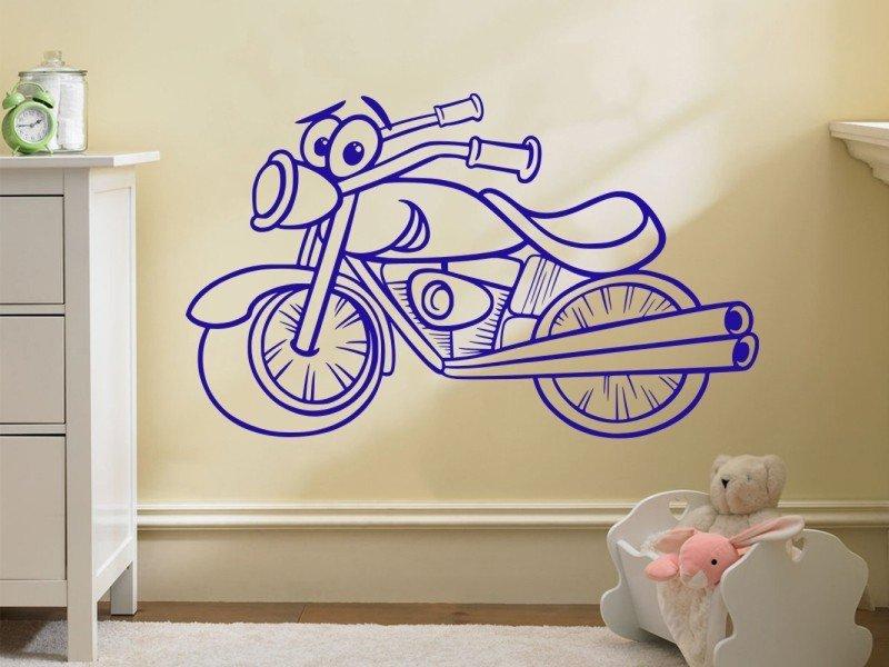 Samolepky na zeď Dětská motorka 1000 - Samolepící dekorace a nálepka na stěnu