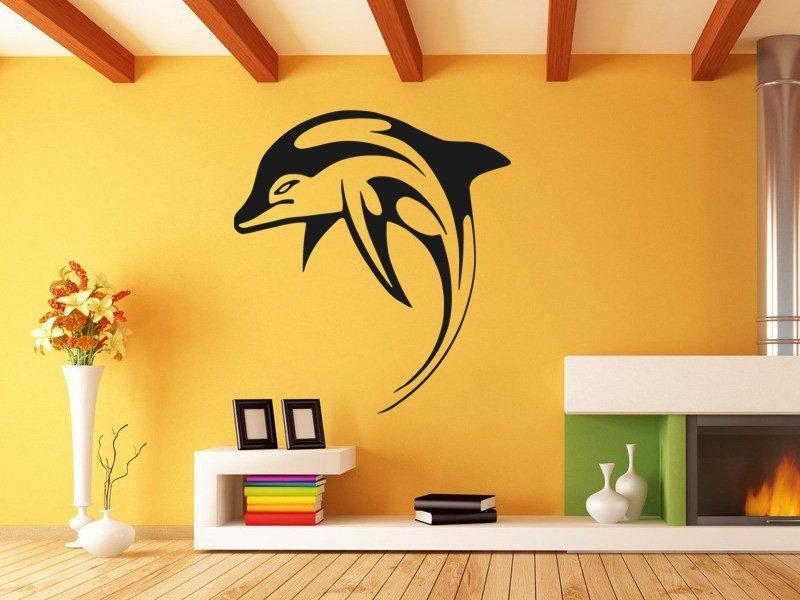 Samolepky na zeď Delfín 0195 - Samolepící dekorace a nálepka na stěnu