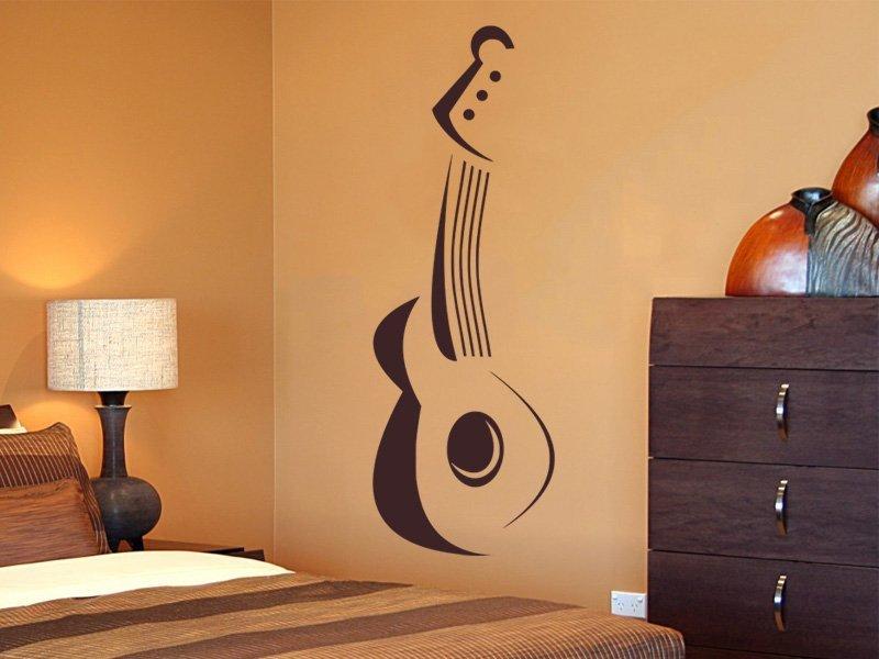 Samolepky na zeď Kytara 004 - Samolepící dekorace a nálepka na stěnu