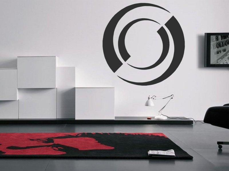 Samolepky na zeď Kruhy 009 - Samolepící dekorace a nálepka na stěnu