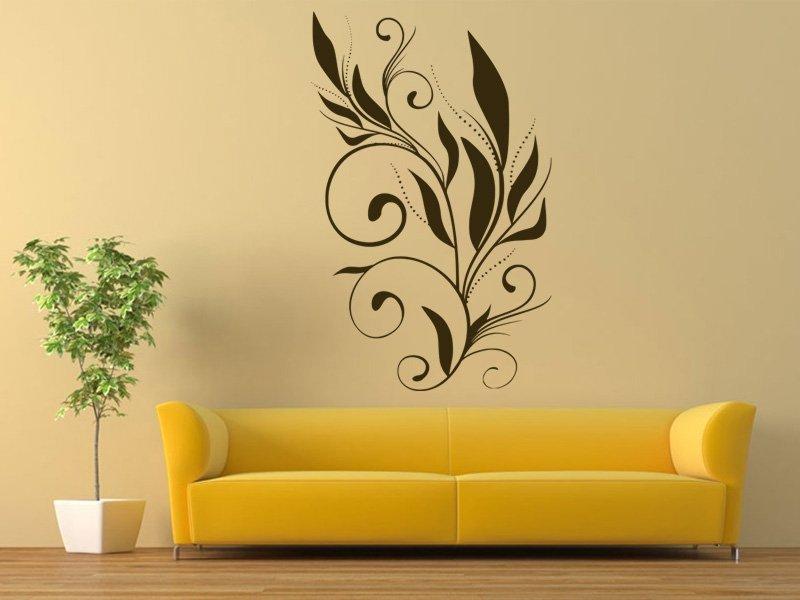 Samolepky na zeď Ornamenty z rostlin 001 - Samolepící dekorace a nálepka na stěnu