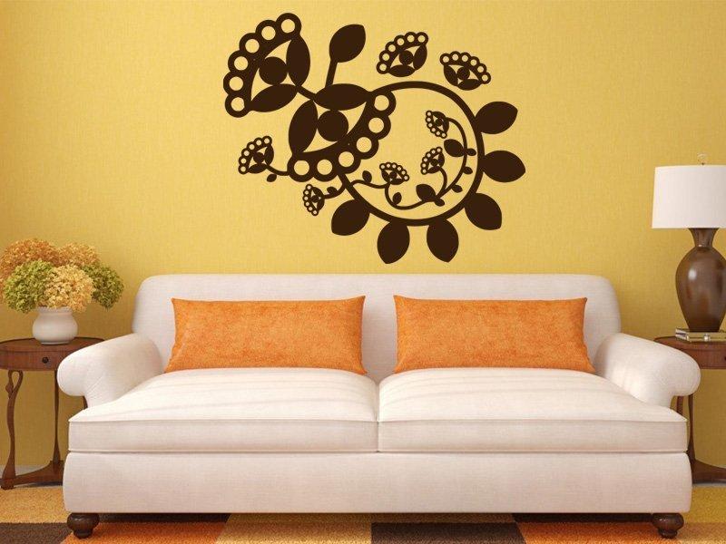 Samolepky na zeď Ornamenty z rostlin 016 - Samolepící dekorace a nálepka na stěnu