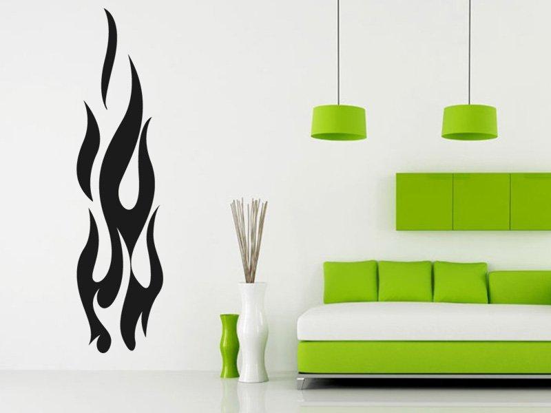 Samolepky na zeď Plameny 007 - Samolepící dekorace a nálepka na stěnu