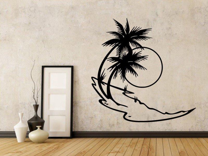 Samolepky na zeď Palmy 007 - Samolepící dekorace a nálepka na stěnu