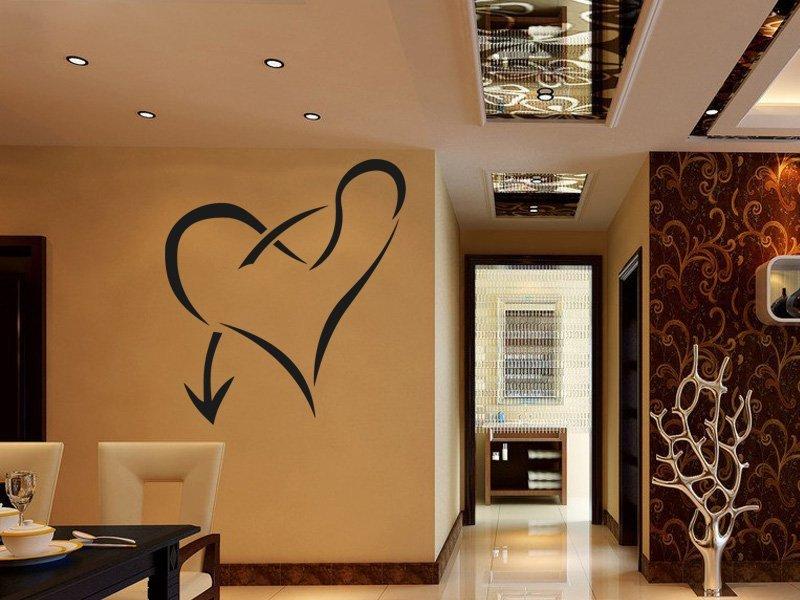 Samolepky na zeď Srdce 006 - Samolepící dekorace a nálepka na stěnu