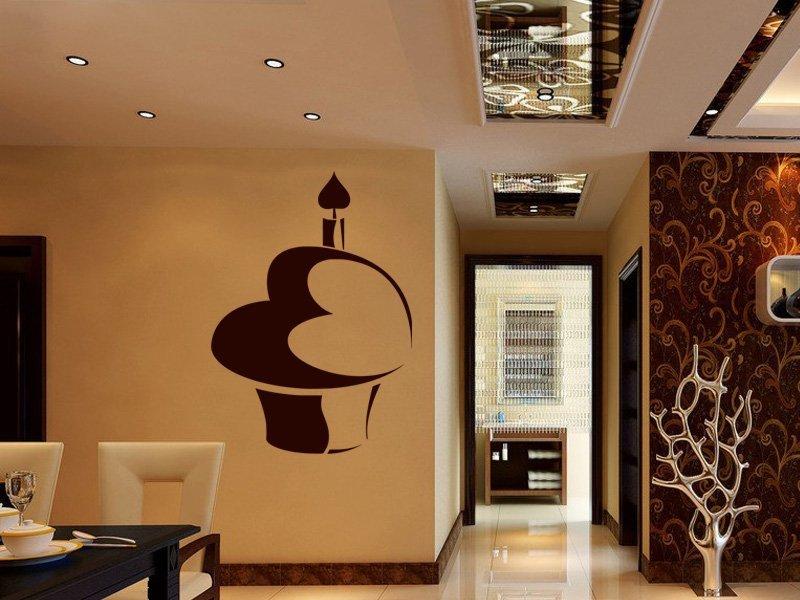 Samolepky na zeď Dort 001 - Samolepící dekorace a nálepka na stěnu