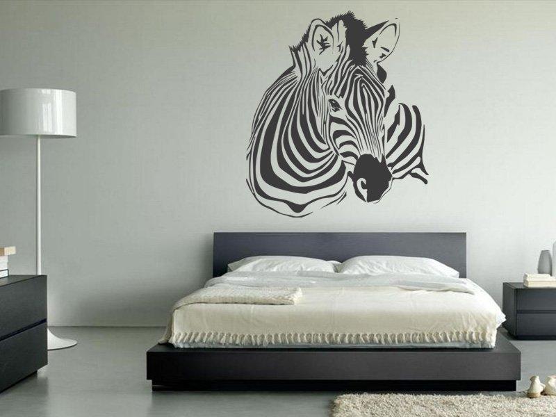 Samolepky na zeď Zebra 018 - Samolepící dekorace a nálepka na stěnu