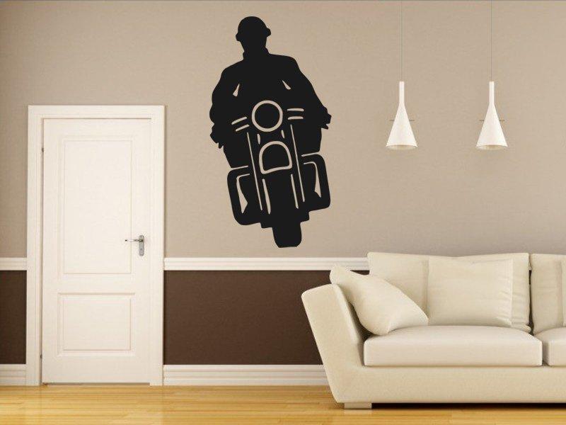 Samolepky na zeď Motorka 018 - Samolepící dekorace a nálepka na stěnu