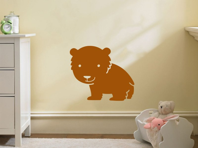 Samolepky na zeď Lvíček 001 - Samolepící dekorace a nálepka na stěnu