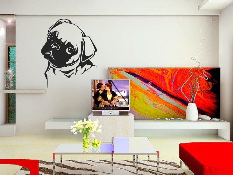 Samolepky na zeď Buldoček 003 - Samolepící dekorace a nálepka na stěnu