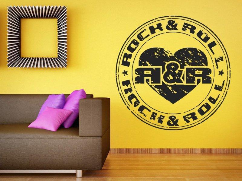 Samolepky na zeď Rock And Roll 001 - Samolepící dekorace a nálepka na stěnu
