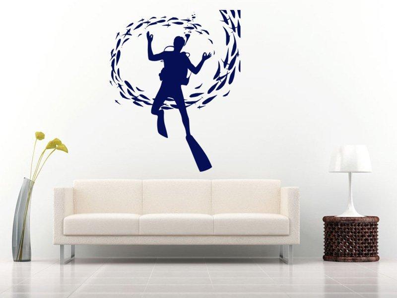 Samolepky na zeď Potápěč 001 - Samolepící dekorace a nálepka na stěnu
