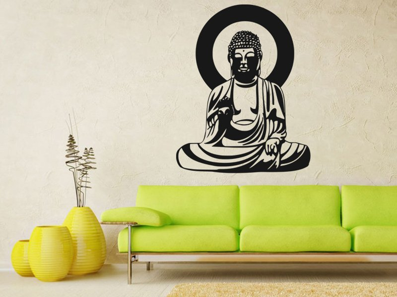 Samolepky na zeď Budha 001 - Samolepící dekorace a nálepka na stěnu