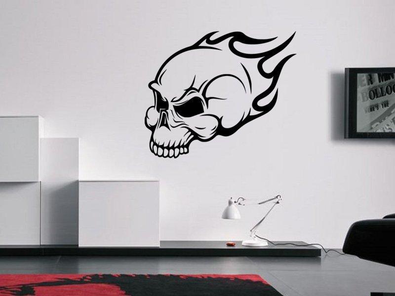 Samolepky na zeď Lebka 001 - Samolepící dekorace a nálepka na stěnu