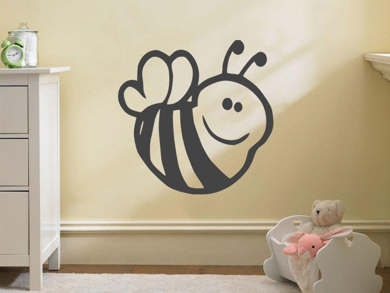 Samolepky na zeď Včela 001 - Samolepící dekorace a nálepka na stěnu