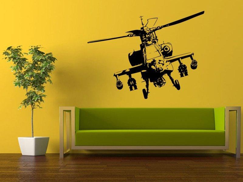 Samolepky na zeď Helikoptéra 004 - Samolepící dekorace a nálepka na stěnu
