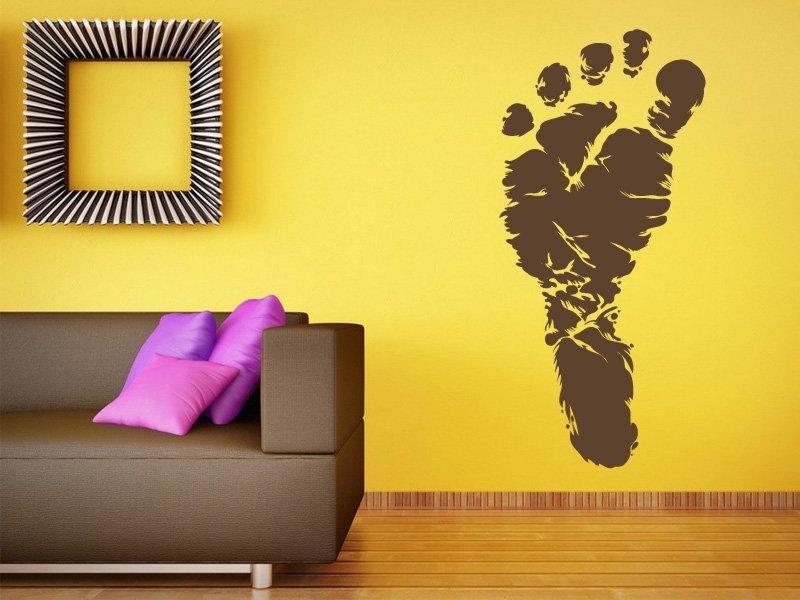 Samolepky na zeď Chodidlo 001 - Samolepící dekorace a nálepka na stěnu