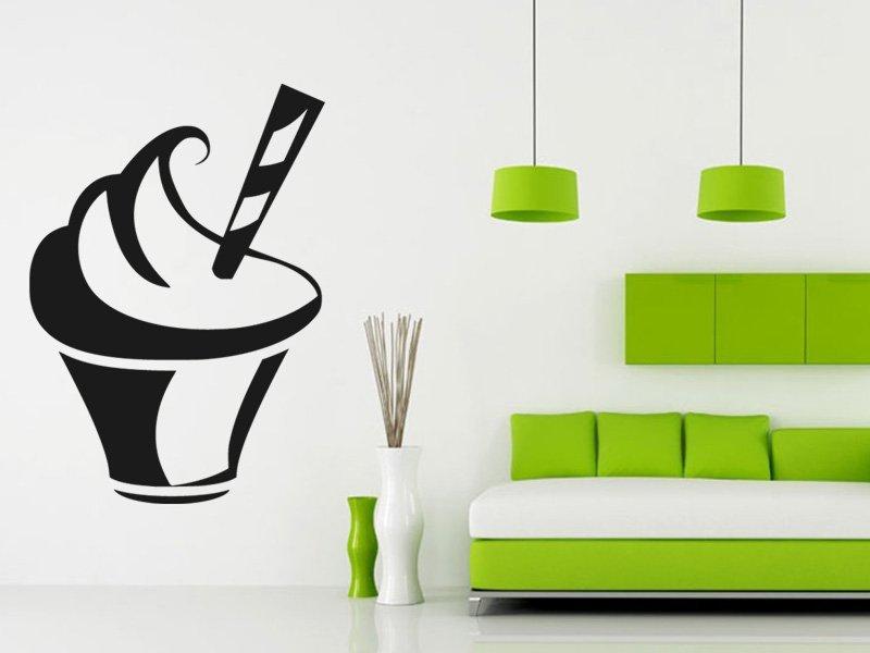 Samolepky na zeď Cupcake 0007 - Samolepící dekorace a nálepka na stěnu