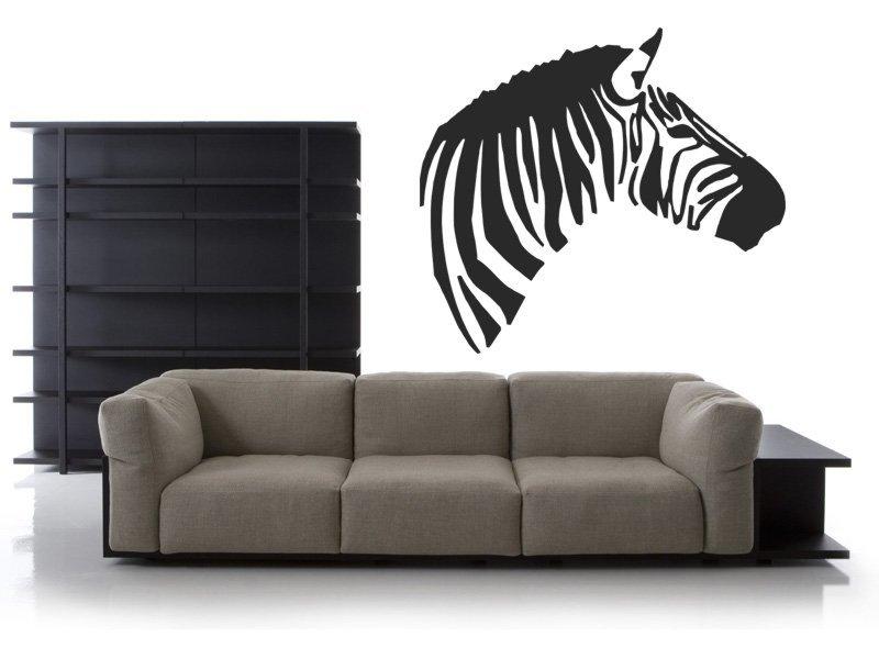 Samolepky na zeď Zebra 005 - Samolepící dekorace a nálepka na stěnu