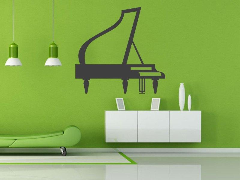 Samolepky na zeď Piano 002 - Samolepící dekorace a nálepka na stěnu
