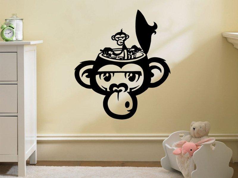Samolepky na zeď Opička 002 - Samolepící dekorace a nálepka na stěnu