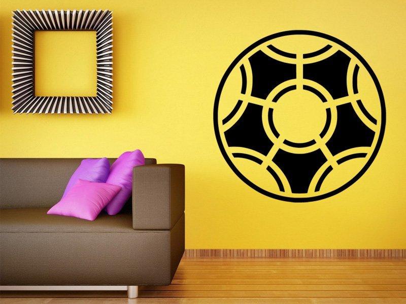 Samolepky na zeď Fotbalový míč 005 - Samolepící dekorace a nálepka na stěnu