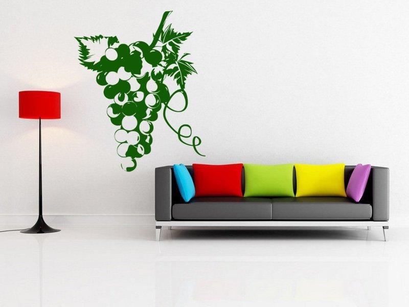 Samolepky na zeď Hrozen 002 - Samolepící dekorace a nálepka na stěnu
