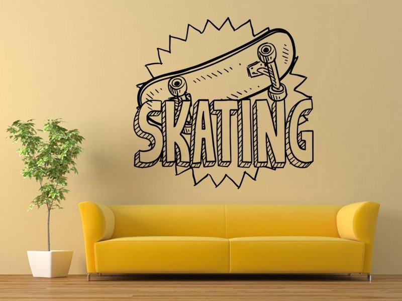 Samolepky na zeď Skateboard 0961 - Samolepící dekorace a nálepka na stěnu