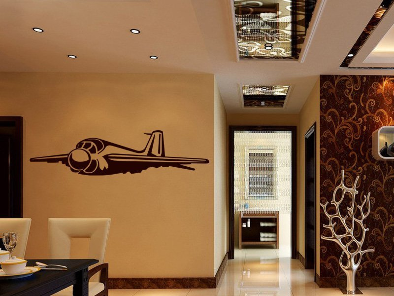 Samolepky na zeď Letadlo 009 - Samolepící dekorace a nálepka na stěnu