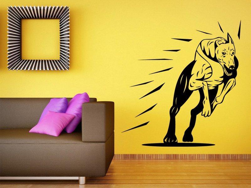 Samolepky na zeď Chrt 001 - Samolepící dekorace a nálepka na stěnu