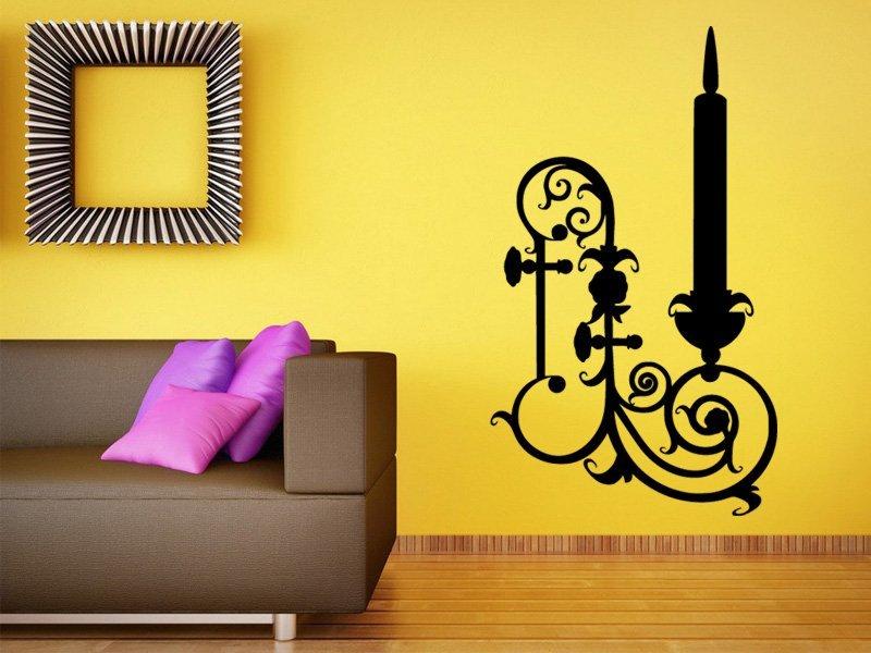Samolepky na zeď Svícen 0023 - Samolepící dekorace a nálepka na stěnu