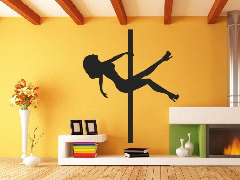 Samolepky na zeď Pole dance 0980 - Samolepící dekorace a nálepka na stěnu