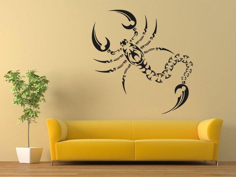 Samolepky na zeď Škorpión 005 - Samolepící dekorace a nálepka na stěnu