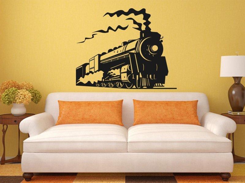 Samolepky na zeď Vlak 005 - Samolepící dekorace a nálepka na stěnu
