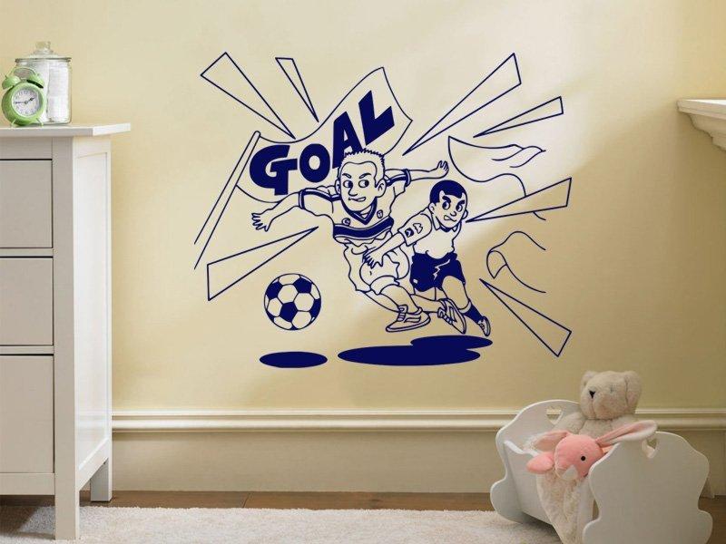 Samolepky na zeď Fotbalista 003 - Samolepící dekorace a nálepka na stěnu