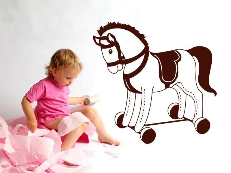 Samolepky na zeď Houpací kůň 001 - Samolepící dekorace a nálepka na stěnu