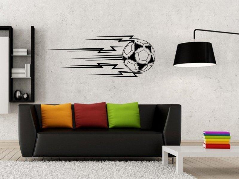 Samolepky na zeď Fotbalový míč 011 - Samolepící dekorace a nálepka na stěnu