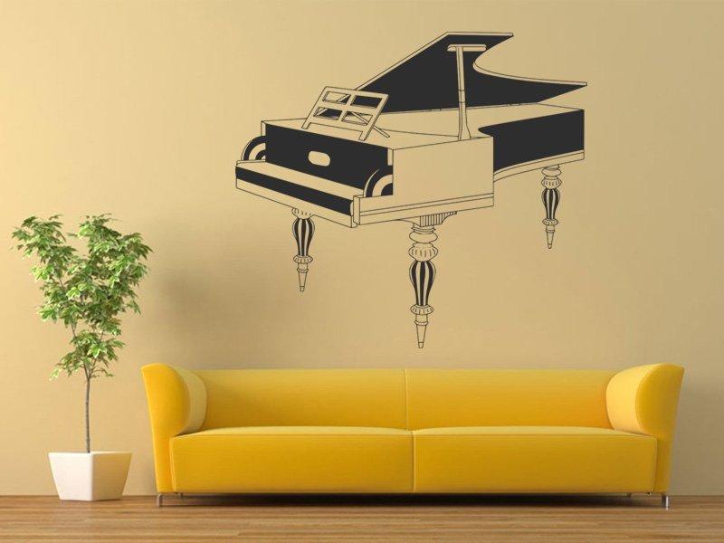 Samolepky na zeď Piano 004 - Samolepící dekorace a nálepka na stěnu