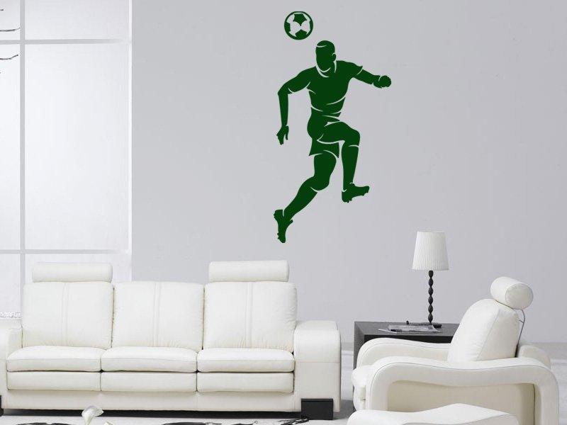 Samolepky na zeď Fotbalista 015 - Samolepící dekorace a nálepka na stěnu