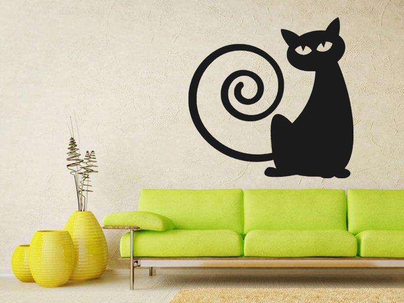 Samolepky na zeď Kočka 0443 - Samolepící dekorace a nálepka na stěnu